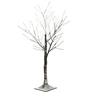 Pre-Lit LED Twig Tree with Snow Effect Decoration