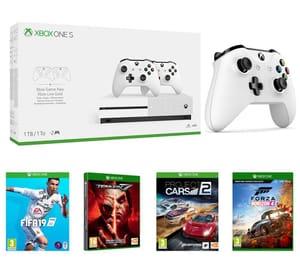 Xbox One S 1TB 3 controllers+Forza Horizon 4+Fifa 19+tekken 7+Project Cars 2