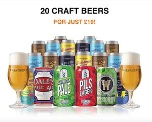 20 Craft Beers + 2 Glasses for Just £19 delivered!
