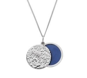 Moon & Back Sterling Silver Embossed Sliding 1 Photo Locket Only £9.99