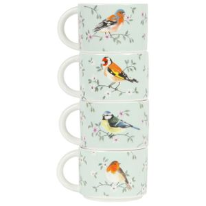 Sass & Belle Garden Birds Stackable Cups
