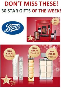 30 Fabulous Star Gifts of the Week at Boots! Don't Miss These!