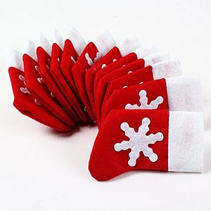 12PCS Christmas Stockings Cutlery Holders Set