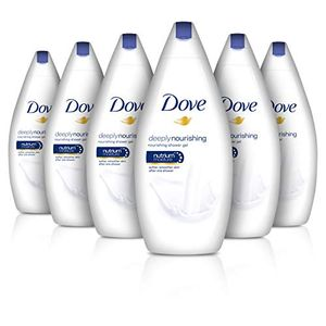 Dove Moisture Deeply Nourishing Body Wash, 500 Ml, Pack of 6