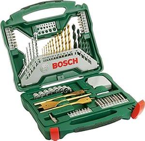 Bosch 2607019329 Titanium Drill and Screwdriver Set, 70 Pieces