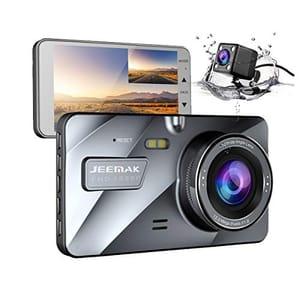 """JEEMAK 4"""" IPS Dual Lens Car Dash Cam FHD 1080P Dashboard"""