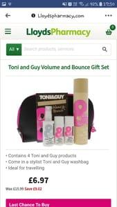 Toni and Guy Volume and Bounce Gift Set