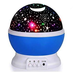 Blue Star Night Light Projector