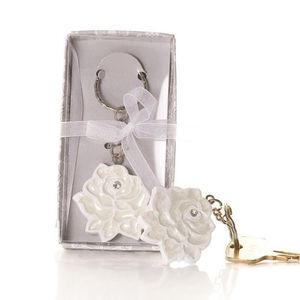 A Rose in Bloom Keyring FREE DELIVERY