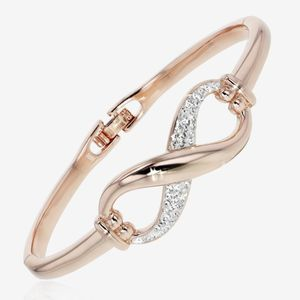 Rose Infinity Bangle Made with Swarovski® Crystals