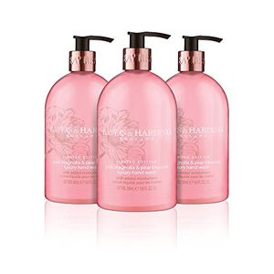 Baylis & Harding Hand Wash, Pink Magnolia and Pear Blossom, 500 Ml, Pack of 3