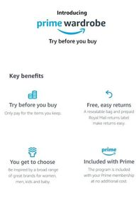 Amazon Prime Wardrobe - Try Clothes for FREE