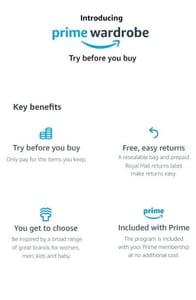 Amazon Prime Wardrobe - Try Clothes for FREE