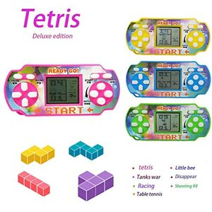 Old Skool Travel Tetris Handheld Game Console with Promo