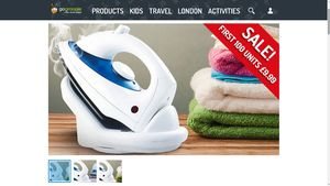 1800W Cordless Steam Iron with Non-Stick Soleplate £9.99. Free Delivery ATM