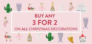 Sass & Belle | 3 for 2 on Christmas Decorations