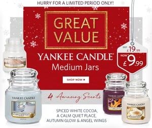 Selected Yankee Candle Medium Jars HALF PRICE