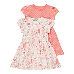 Pink Printed Dresses 2 Pack