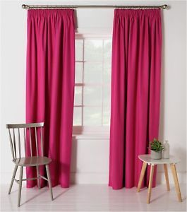 Fuschia Blackout Thermal Curtains Free Post