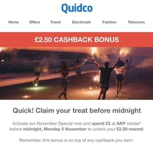 £2.50 Bonus on £5 Spend