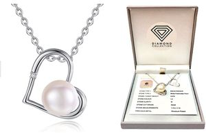 Genuine Diamond and Freshwater Pearl Pendant - 90% Off!
