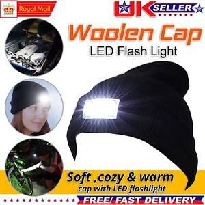 Wooly Hat with Torch Camping/ Fishing/joggers Free Del