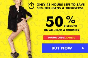 Flash Sale: Trousers & Jeans save Extra 50% , Products for MEN
