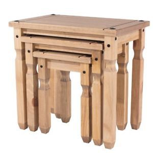 Corona Mexican Pine Nest of Tables with Code