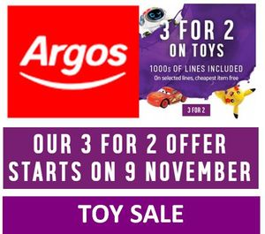 Argos 3 for 2 Toy Sale (Last One Before Christmas!)