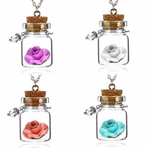 4 X Glow in the Dark Flower Pendants