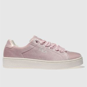 Fila Pale Pink Upstage v Low Velvet Trainers (All Sizes)