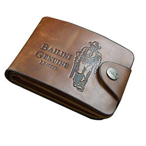 Classic Leather Pockets Credit/ID Cards Holder Purse Wallet