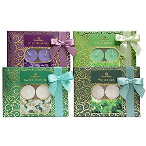 4 Candle Gift Box Sets with 48 Tealights