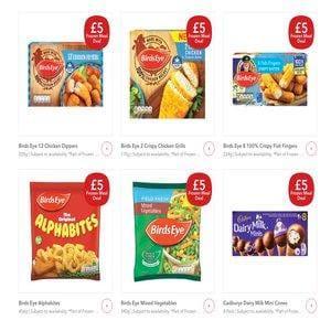 Co Op Bird`s Eye Frozen Meal Deal £5.00/£4.50 NUS
