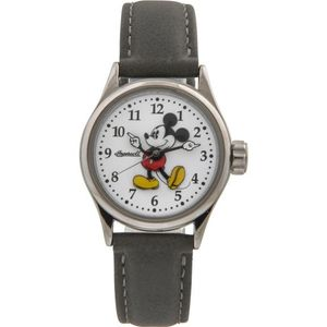 Disney by Ingersoll Ladies Classic Mickey Mouse Grey Nubuck Strap Watch
