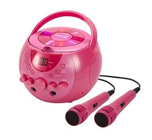 £10 off RockJam Karaoke Machine with Two Mics in Pink
