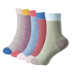 5 Pairs of Thick Winter Warm Wooly Socks