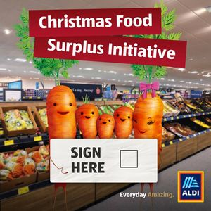 Aldi Christimas Food Surplus Initiative