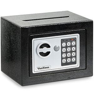 VonHaus Home Mini Safe Box with Key & Electronic Keypad