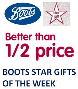 Boots STAR GIFTS of the WEEK - from FRIDAY 9th November THIS WEEK'S TOP OFFERS