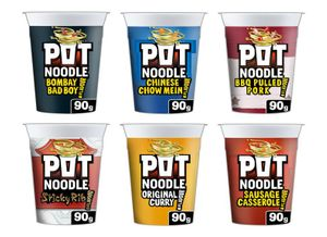 Pot Noodle 90g Varieties Half Price 50p