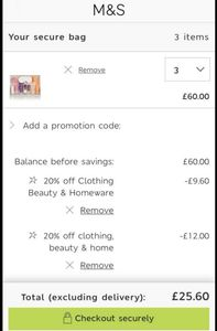 Code Stacking on M&S Beauty Boxes ( Sparks Card Holders) £60 worth for £25.60