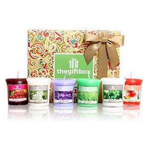 Six Fragranced Votive Wax Candles in an Array of Uplifting Aromas