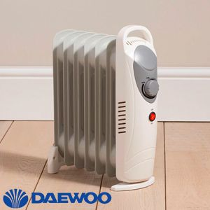 Daewoo 800w Mini Oil Filled Radiator