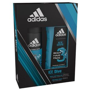 Adidas Ice Dive Body Spray and Shower Gel Set