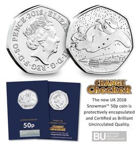 The Snowman 50p Coin Inc Del
