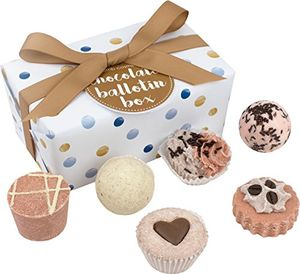 Bomb Cosmetics Chocolate Ballotin Handmade Bath Melt Gift Pack from Amazon