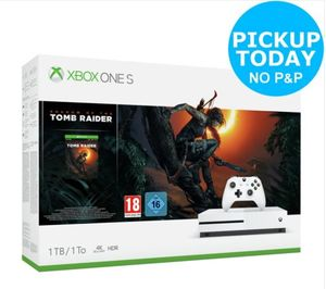 Microsoft Xbox One S 1TB Shadow of the Tomb Raider Console Bundle Only £249.99