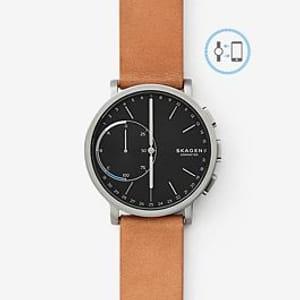 SKAGEN Hybrid Smartwatch - Hagen Titanium and Tan Leather