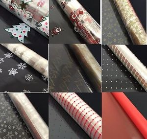 CELLOPHANE 80cm Wide Christmas Birthday Wedding Gift Wrapping Flowers